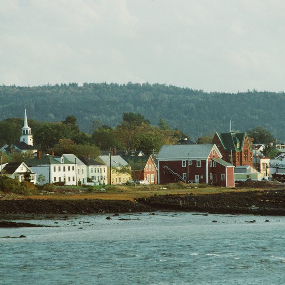 Rural villages dot the Nova Scotia coast.