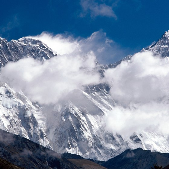 The world's highest peak, Mount Everest, is accesible only during brief windows of good weather.