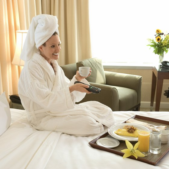 Treat yourself when you're in a hotel.