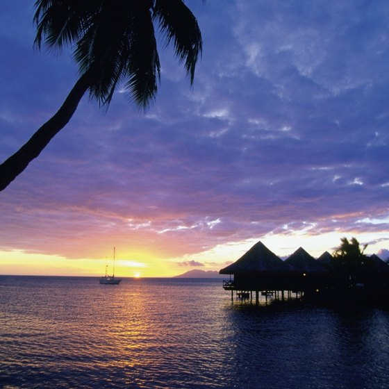 Spectacular sunsets are a part of the Tahiti tradition.