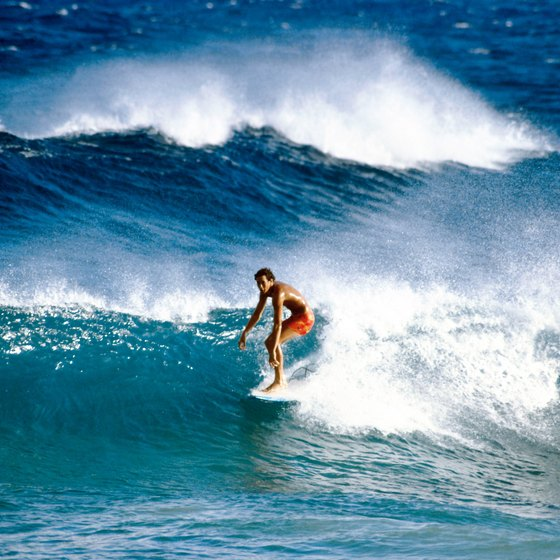 Hawaii has some of the best surfing beaches in the world.