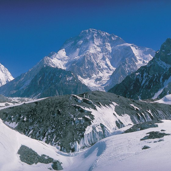 K2 in Pakistan is the world's second-highest peak.