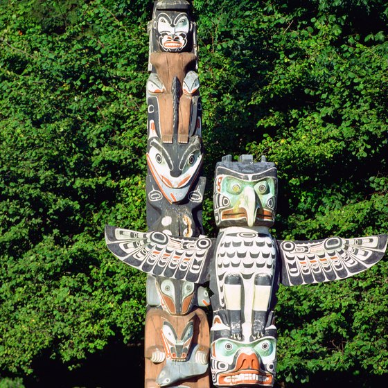 Stanley Park totem poles are reproductions of the originals, which are restored and in museums.
