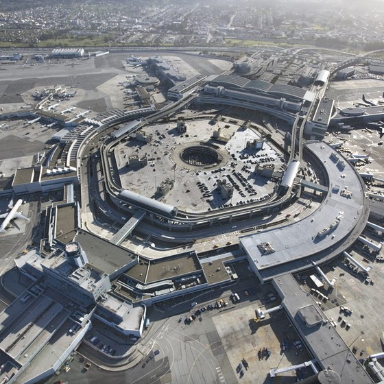 San Francisco International Airport is 13 miles south of San Francisco.