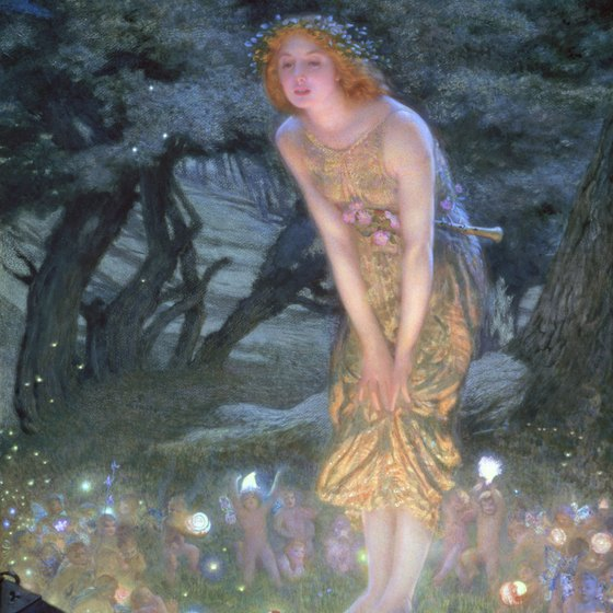 Fairies and spirits are traditionally active on Midsummer Night.