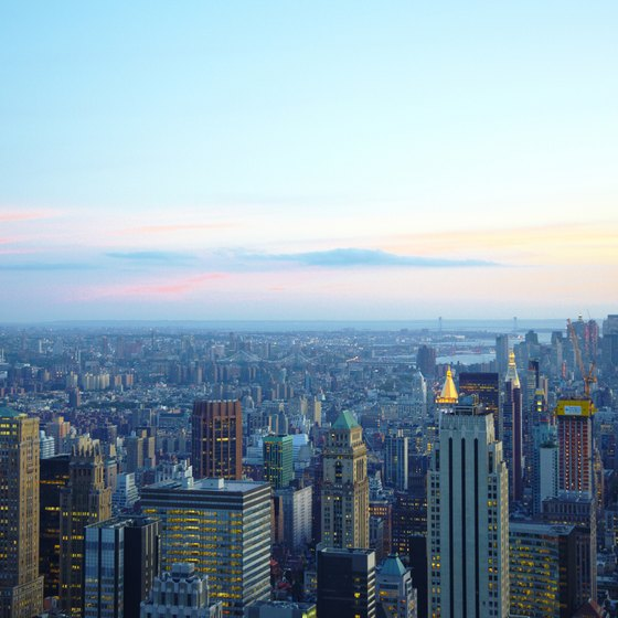 New York's Midtown region, home to Rockefeller Center, features its share of hotels.