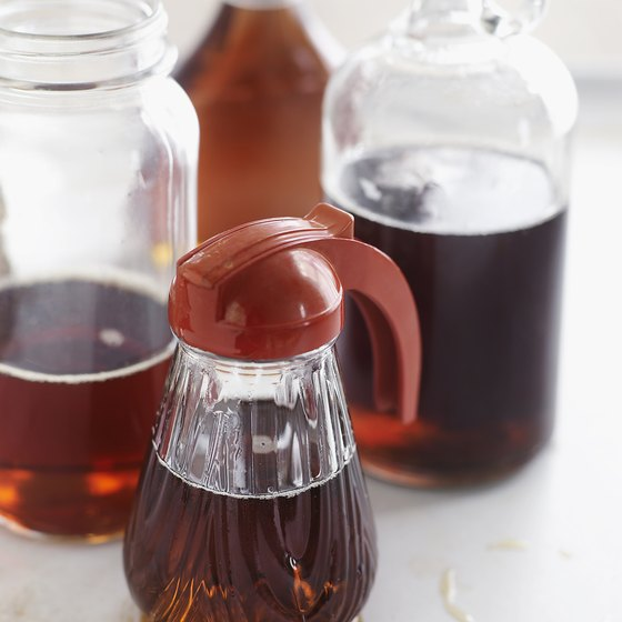Orchards around Newport are used to make maple syrup.