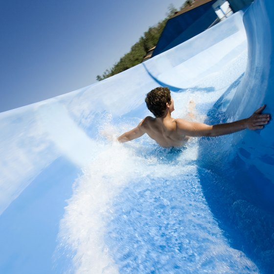 Water parks near New Orleans help visitors cool off and have fun.