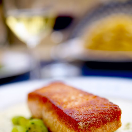 Local wild salmon stars at several upscale Vancouver restaurants.