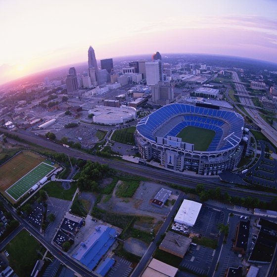 The Bank Of America Stadium Is In Heart Downtown Charlotte