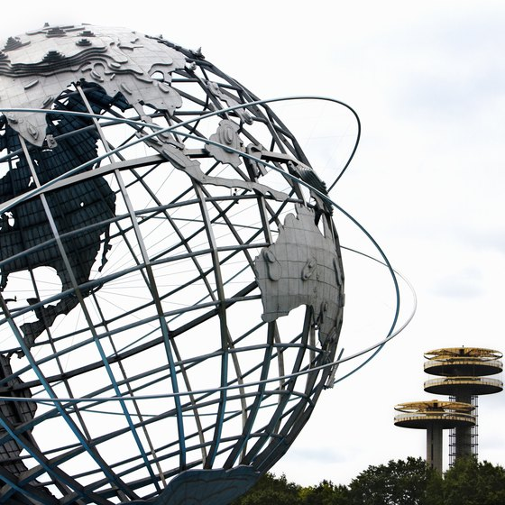 The Unisphere brings lots of visitors to Queens.