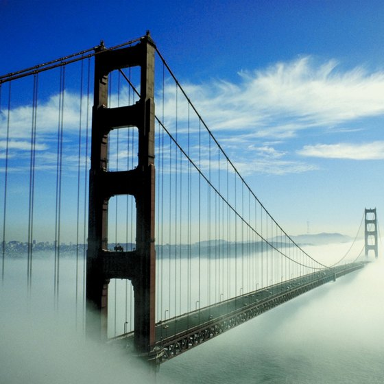 The Golden Gate Bridge is just one famous attraction among many in San Francisco.