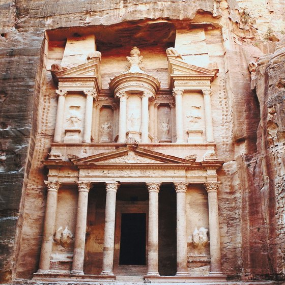 At the end of the Siq -- a gorge -- the intricately carved Treasury welcomes visitors to Petra.