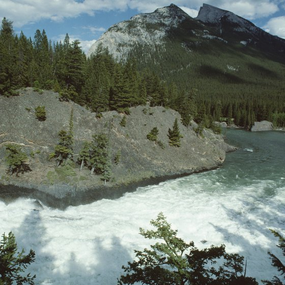 Banff National Park offers campsites in the Canadian Rockies.