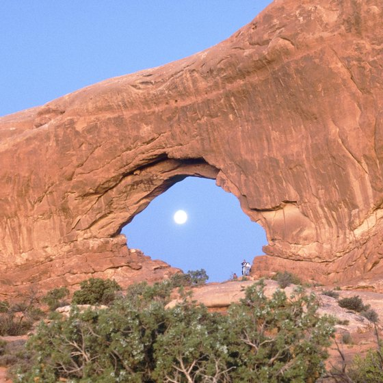 Arches National Park has thousands of sandstorm formations.