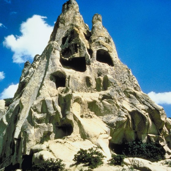 Goreme National Park is known for its unusual rock formations.