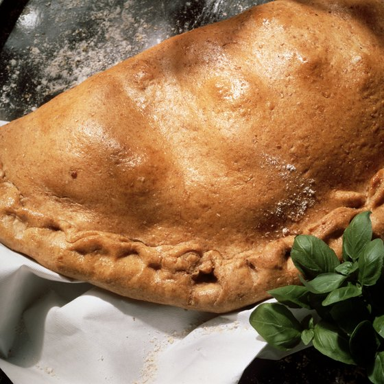 Calzones are one specialty offered at Hoboken restaurants.