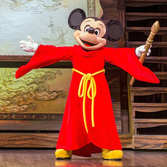 Beloved characters like Mickey perform daily in Disneyland shows.