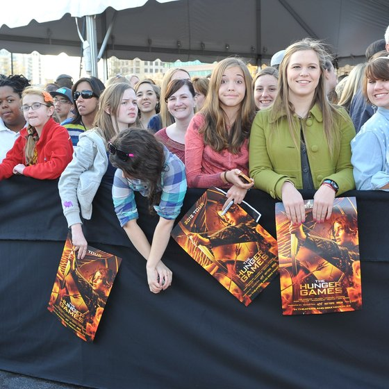 "The ""Hunger Games"" fan tour at Lenox Square Mall."