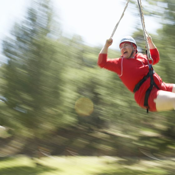 Zip through the pines at Wisp Resort.
