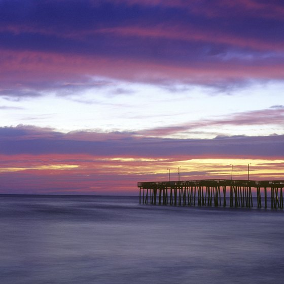 Soak up picturesque ocean vistas from the Virginia Beach Fishing Pier.