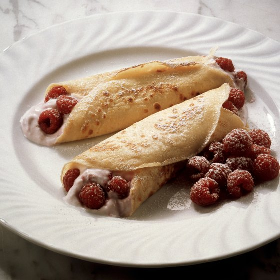 Crepes are a popular meal and dessert in the province of Quebec.