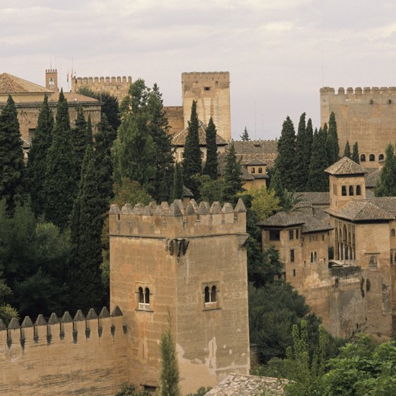The Alhambra is one of the most grandiose Arab palaces in Spain.