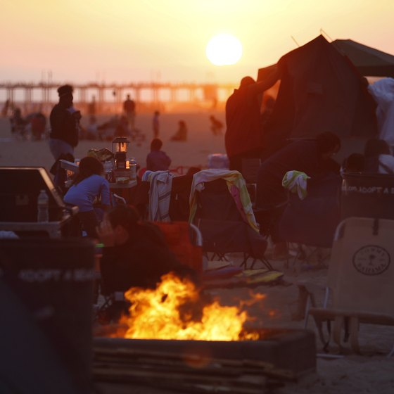 Bonfires are a long-time tradition at Huntington Beach.