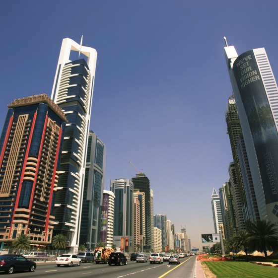 Sheikh Zayed Road in Dubai.