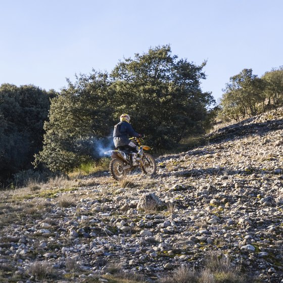Find dirt motorcycle trails within a short drive of the city.