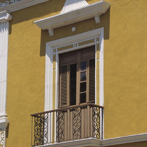 You'll see bits of Spanish colonial architecture throughout central Mexico.