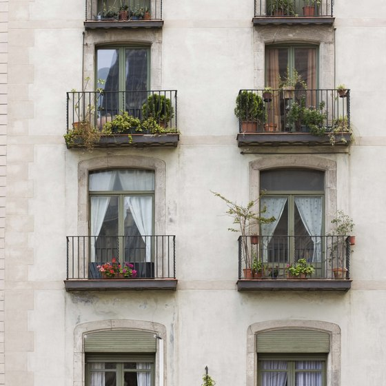 Wrought iron balconies are very typical along Carrer del Bruc and throughout Eixample.