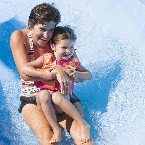 Water parks provide hours of activity and entertainment for children and adults.