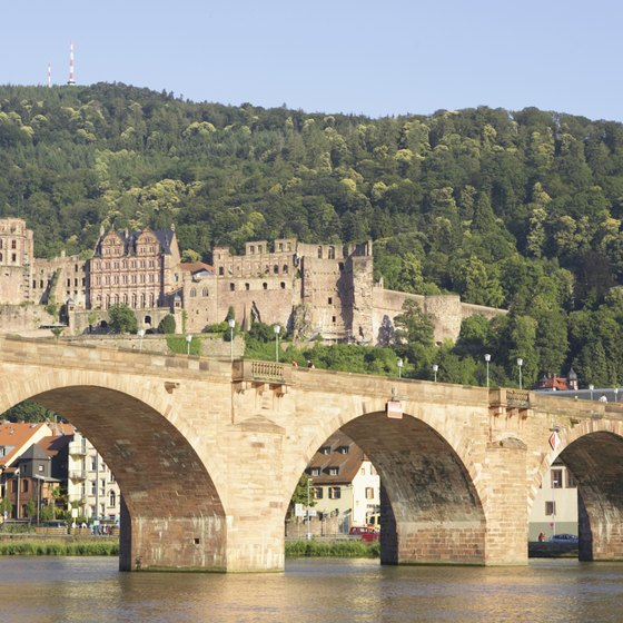 The Old Bridge over the River Neckar is a star attraction in Heidelberg.