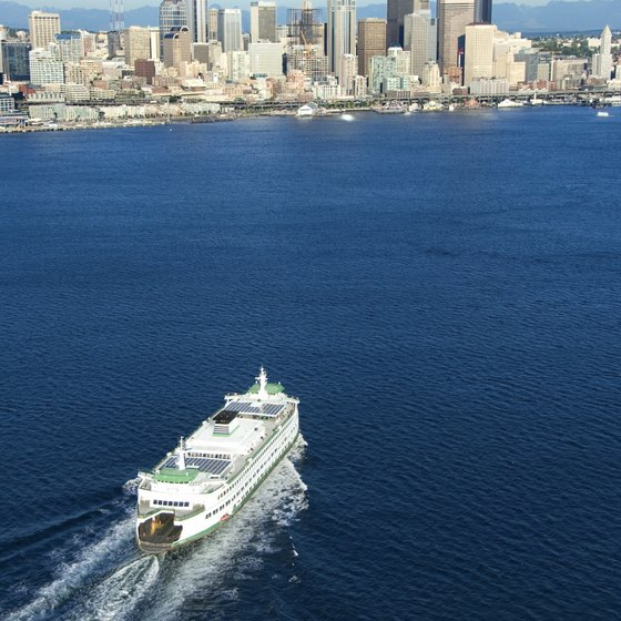 Seattle's ferry dock is on the city's vibrant waterfront.
