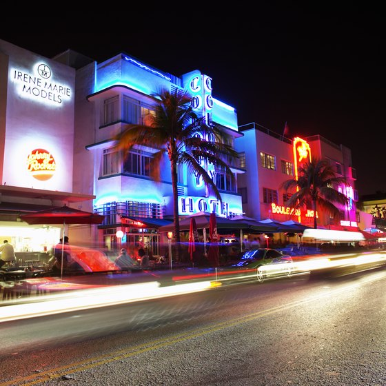 Collins Avenue, where it passes through South Beach, is the famous Art Deco district.