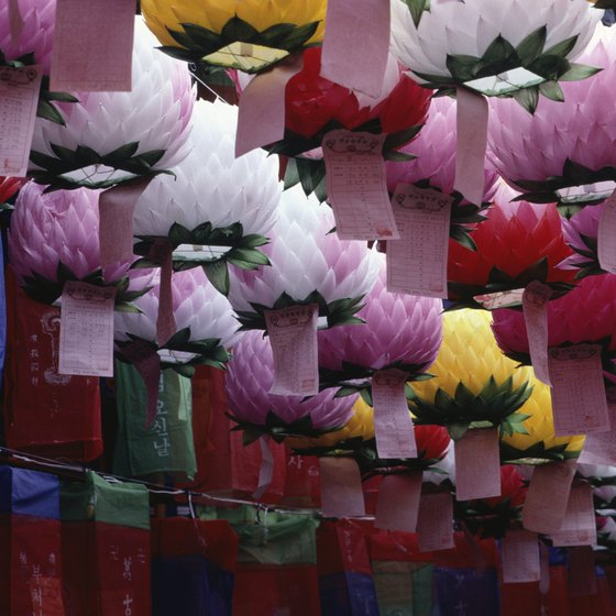 Paper lanterns in South Korea are as colorful as the country itself.
