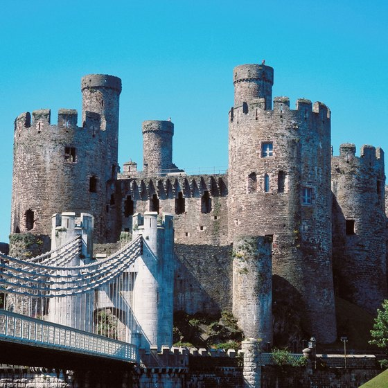 Some of the most famous landmarks of Wales are its castles.