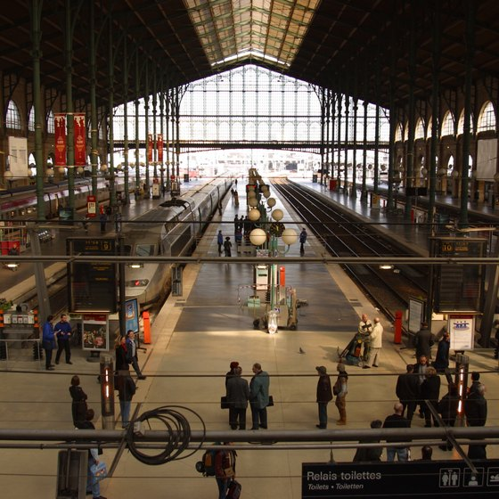 Inside Paris' Gare du Nord railway station