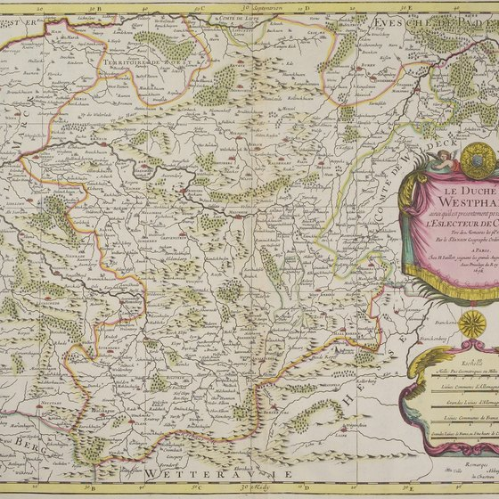 Antique map of Westphalia.
