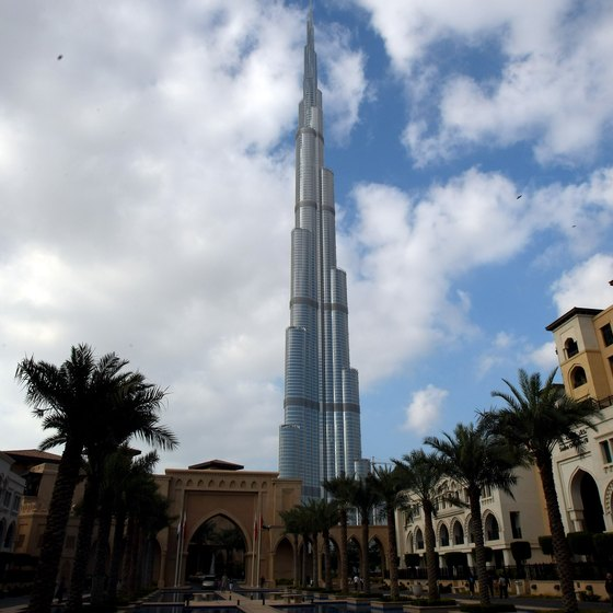 THe Burj Khalifa is the world's tallest building and it dominates the Dubai skyline.