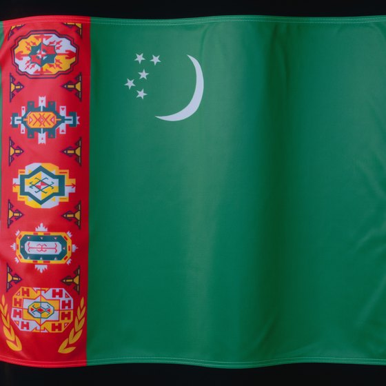 The flag of Turkmenistan incorporates the history and traditions of the country.