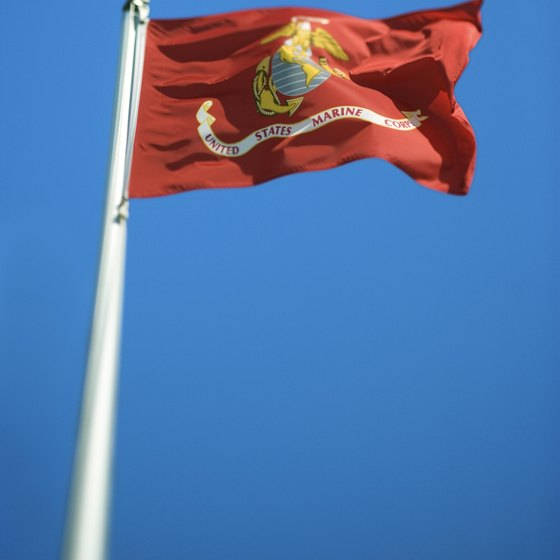 As the closest major city to two U.S. Marine Corps bases, Jacksonville, North Carolina flies the USMC flag proudly.