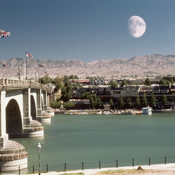 Parker lies a short distance south of London Bridge at Lake Havasu City.
