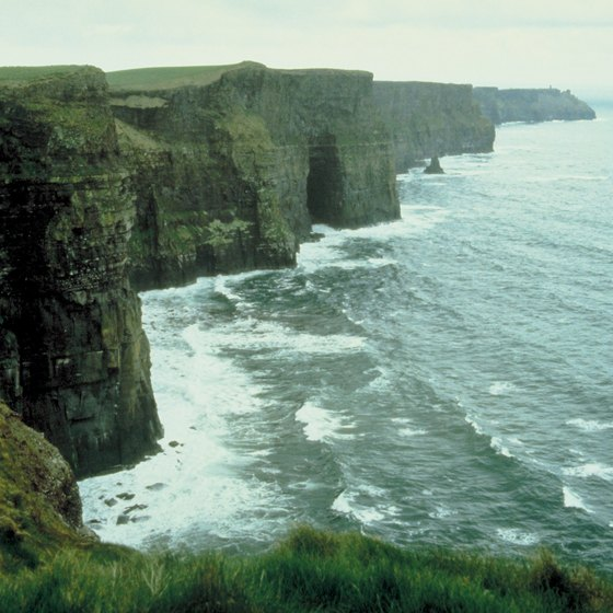 The Cliffs of Moher extend almost five miles along County Claire's coastline.