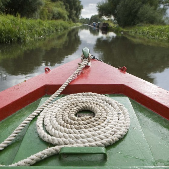 You can spend your vacation on one of London's canal systems.