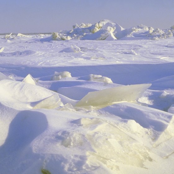 The Arctic can be defined as a desert by its lack of precipitation.