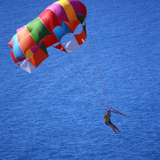 See Aruba from a different perspective while parasailing.