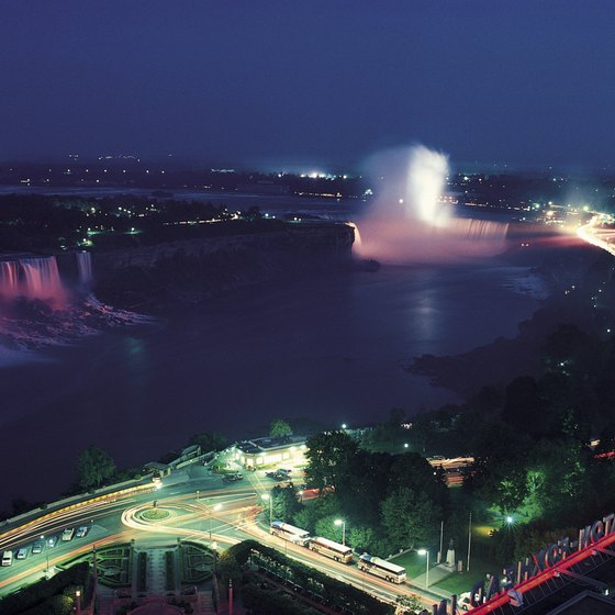 One of Ontario's largest casinos overlooks Niagara Falls.