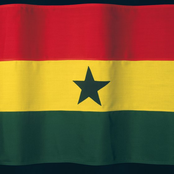 The Ghana flag welcomes visitors to its capital, Accra.